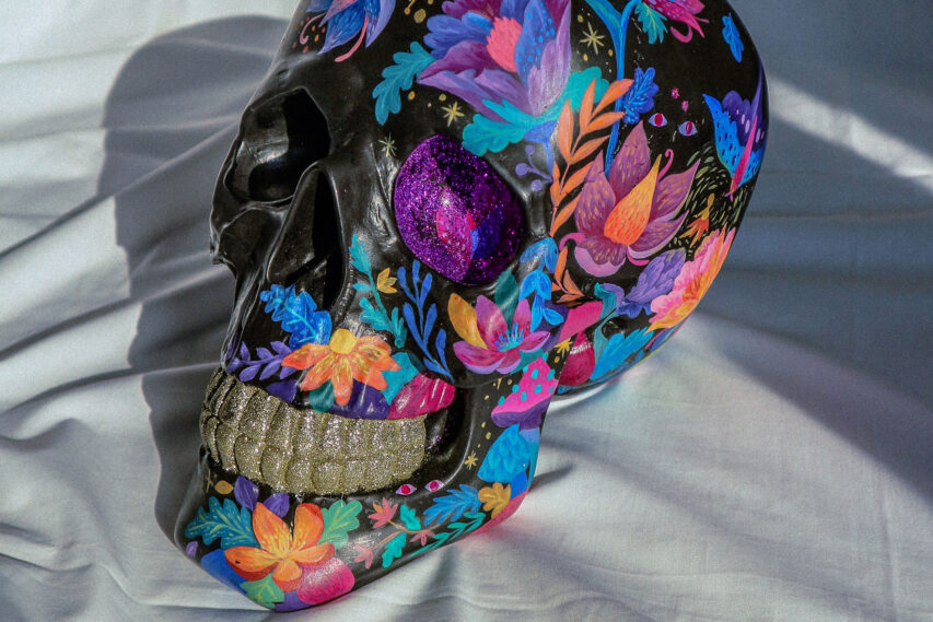 Love & Culture Skull Painting